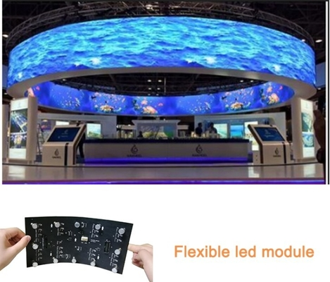 Curving Video Indoor Full Color LED Screen Soft Curtain Flexible Transparent Display